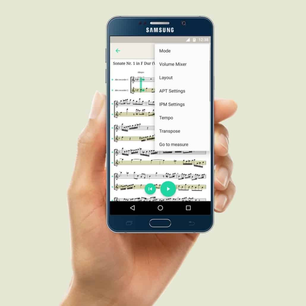 PhonicScore Android App Settings
