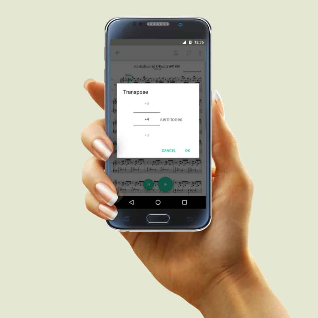 PhonicScore Android App Transponieren